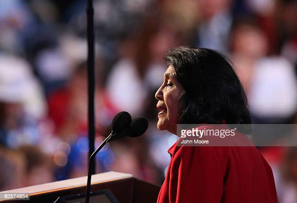 Dolores Huerta President of the Dolores Huerta foundation nominates US Sen Hillary Clinton for US Presidentduring day three of the Democratic...