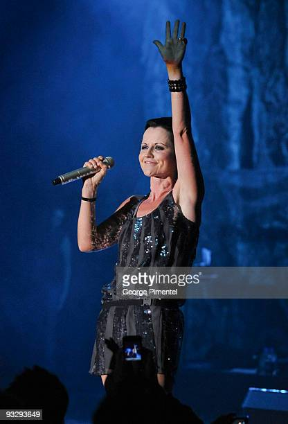 Dolores O' Riordan from The Cranberries performs at Queen Elizabeth Theatre on November 21 2009 in Toronto Canada