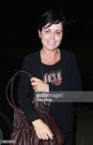 Dolores O'Riordan attends the Late Late show at RTE Studios on October 4 2013 in Dublin Ireland