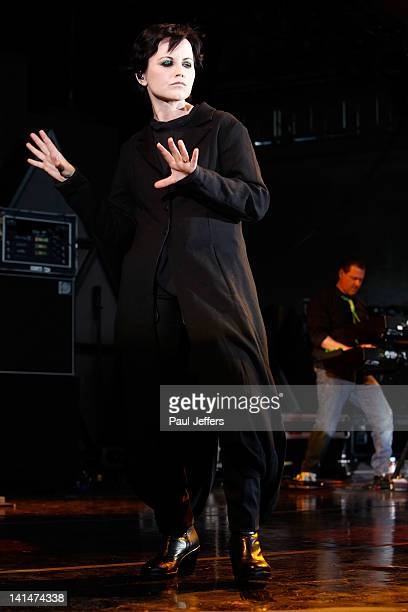 Dolores O'Riordan from The Cranberries performs during F1 Rocks Melbourne at Sidney Myer Music Bowl on March 17 2012 in Melbourne Australia