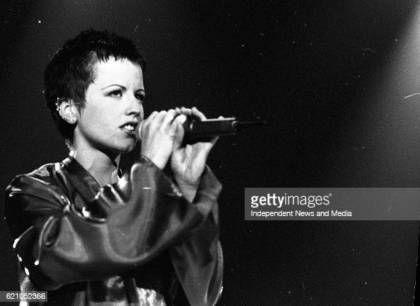 Dolores O'Riordan Lead Singer of the Limerick Group The Cranberries on stage in Dublin's Point Depot