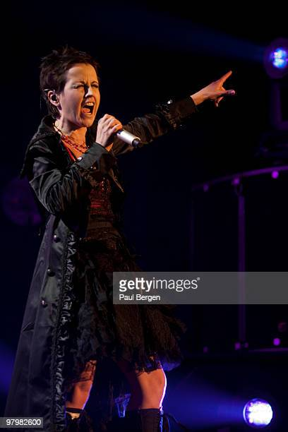 Dolores O'Riordan of Irish rock band The Cranberries performs on stage at Heineken Music Hall on March 23 2010 in Amsterdam Netherlands
