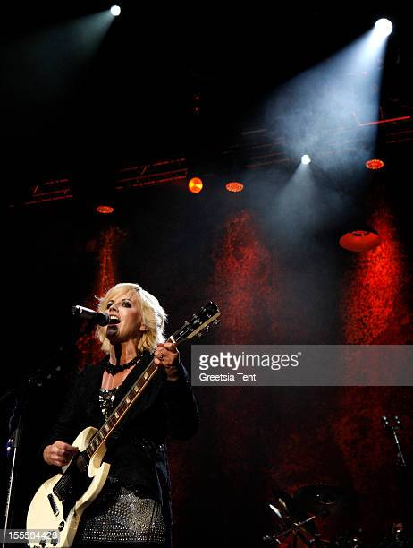 Dolores O'Riordan of The Cranberries performs at Heineken Music Hall on November 5 2012 in Amsterdam Netherlands