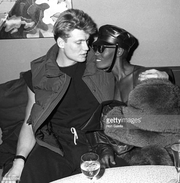 Grace Jones And Dolph Lundgren Stock Photos and Pictures ...