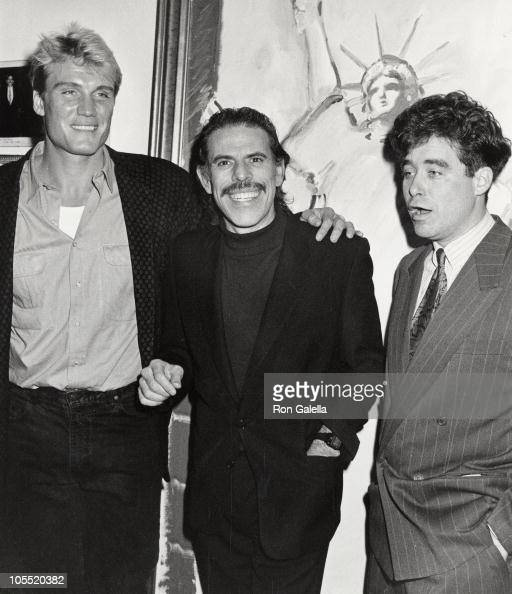 Dolph Lundgren Peter Max and Jay McInerney during Benefit for Covenant House December 13 1989 at Peter Max Studio in New York City New York United...