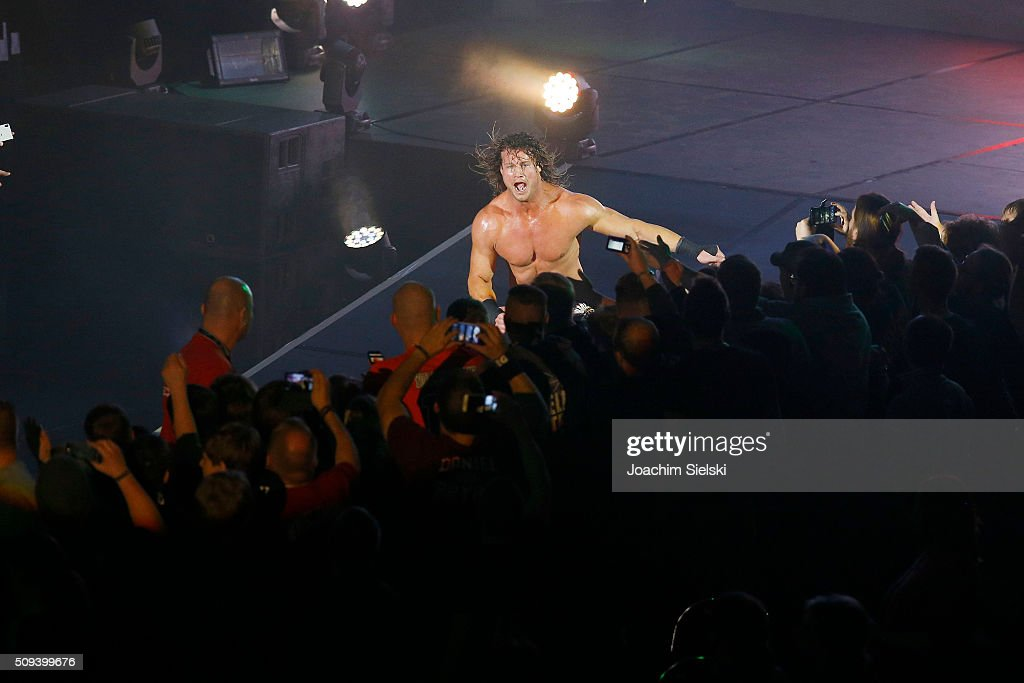 <a gi-track='captionPersonalityLinkClicked' href=/galleries/search?phrase=Dolph+Ziggler&family=editorial&specificpeople=5834435 ng-click='$event.stopPropagation()'>Dolph Ziggler</a> during WWE Germany Live Bremen - Road To Wrestlemania at OVB-Arena on February 10, 2016 in Bremen, Germany.