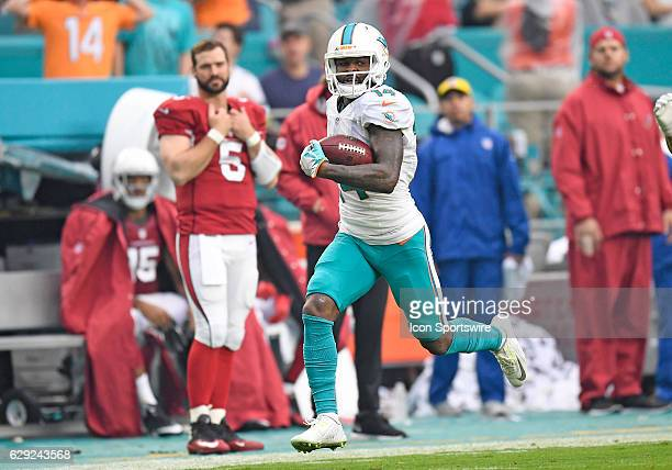 Dolphins wide receiver Jarvis Landry running for a 71 yard reception during an NFL football game between the Arizona Cardinals and the Miami Dolphins...