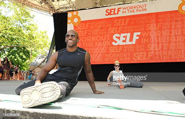 Dolvett Quince attends Self Magazine's 19th Annual Workout In The Park on May 12 2012 in New York City