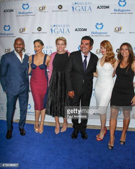 Dolvett Quince Tia Mowry Busy Philipps George Lopez Debby Ryan and Lisa Vidal attend the 2nd annual Norma Jean Gala 2014 at The Paley Center for...