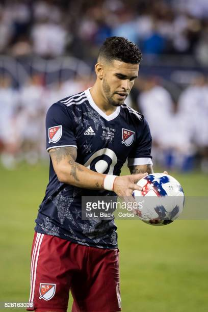 Dom Dwyer of United States lines up for the penalty kick during the MLS AllStar match between the MLS AllStars and Real Madrid at the Soldier Field...