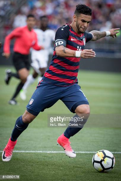 Dom Dwyer of US Men's National Team drives toward the goal during the International Friendly Match between US Men's National Team and Ghana at the...
