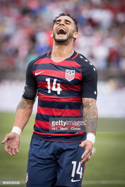 Dom Dwyer of US Men's National Team reacts to a missed shot on goal during the International Friendly Match between US Men's National Team and Ghana...