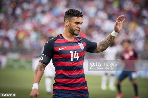 Dom Dwyer of US Men's National Team takes a moment during the International Friendly Match between US Men's National Team and Ghana at the Pratt...