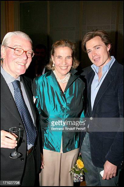 Dom Enrico Gandolfi his wife Princess Claude De France and Leur Neveu Fouk D' Orleans Exhibition launch 'Paris Insolite' of the paintings of the...