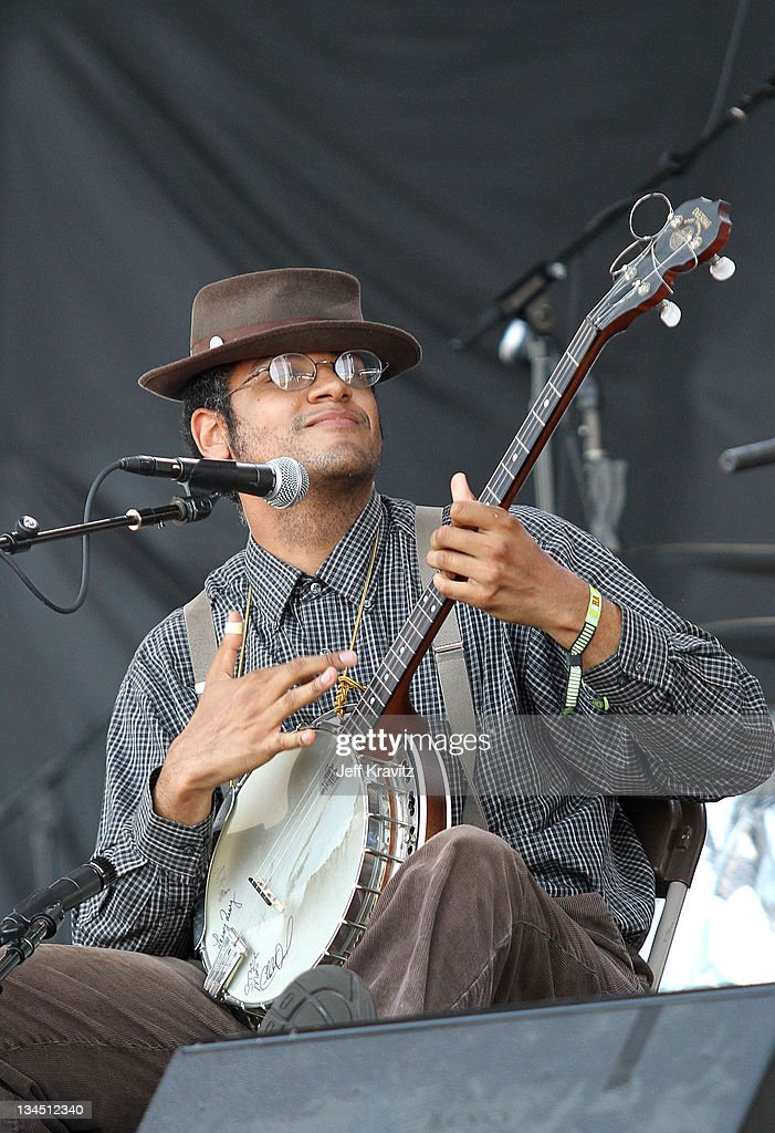 Dom Flemons of Carolina Chocolate Drops performs during day one of Dave Matthews Band Caravan at Bader Field on June 24, 2011 in Atlantic City, New Jersey.