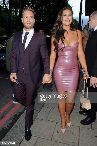 Dom Lever and Jess Shears at the TV Choice awards at the Dorchester hotel on September 4 2017 in London England