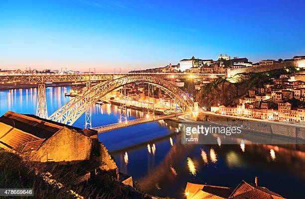 Dom Luis I Bridge at night, Porto, Portugal