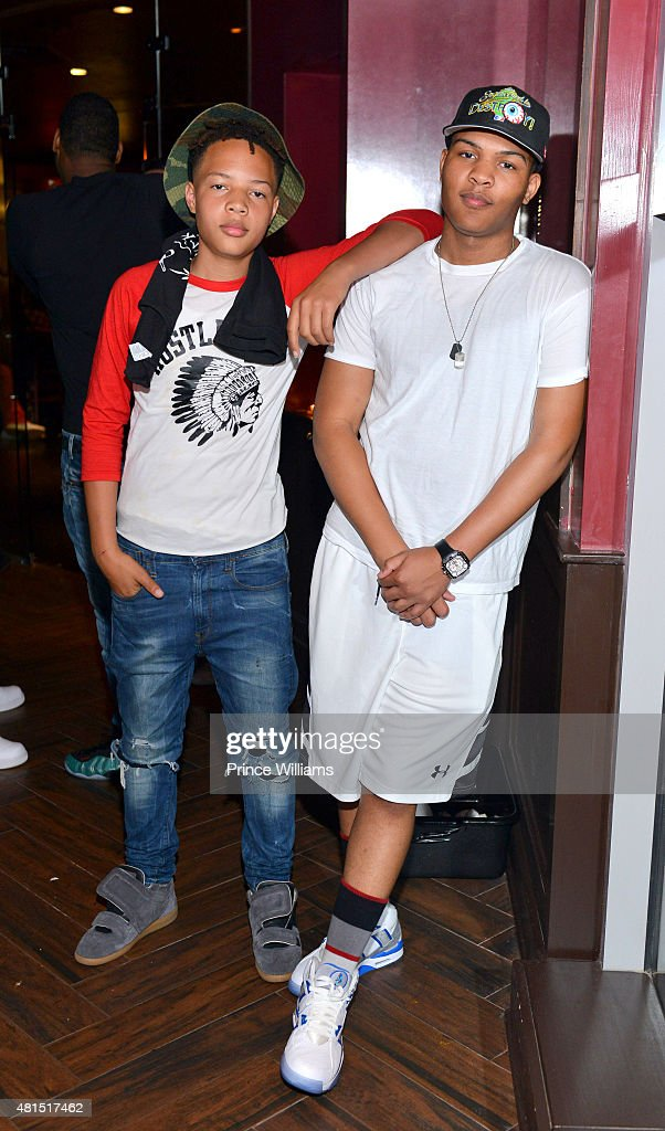 Domani Harris and Messiah Harris attend 'Tiny' Tameka Harris Celebrity Birthday Affair at Scales 925 Restaurant on July 14, 2015 in Atlanta, Georgia.