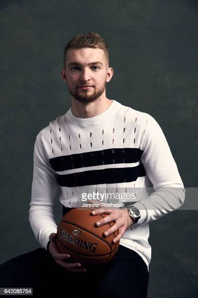 Domantas Sabonis of the Oklahoma City Thunder poses for portraits during the NBAE Circuit as part of 2017 AllStar Weekend at the RitzCarlton Hotel on...