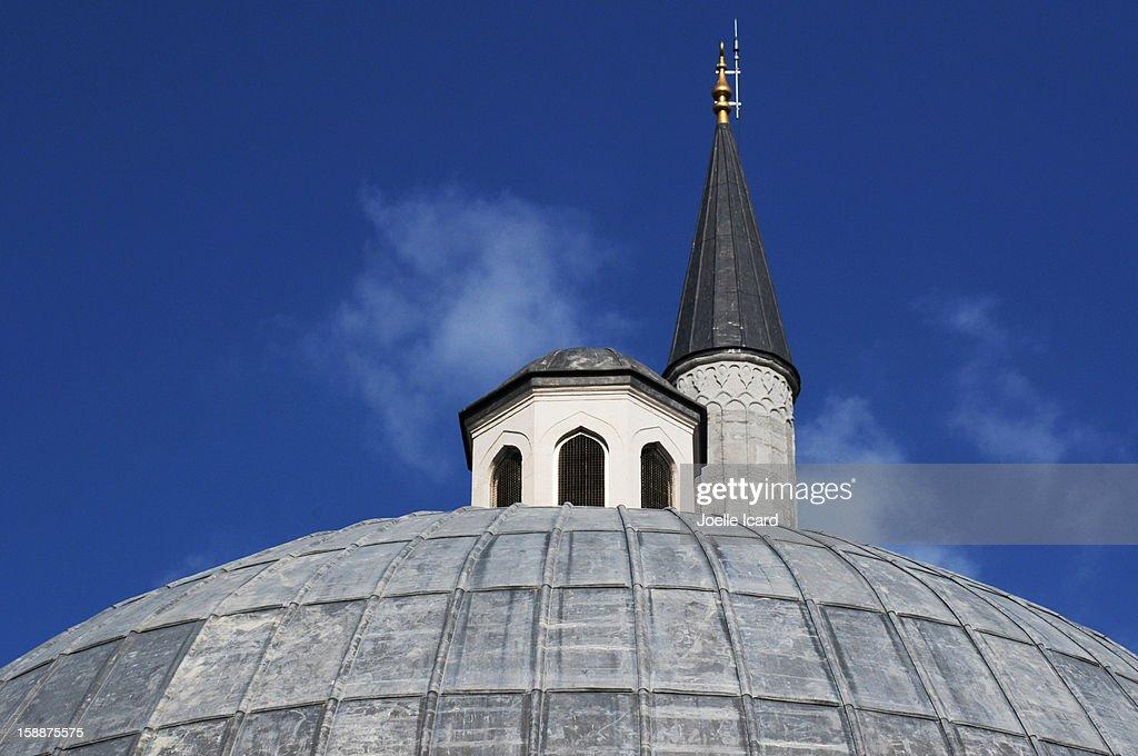 Dome and minaret of Kiliç Ali Pasha mosque : Stock Photo