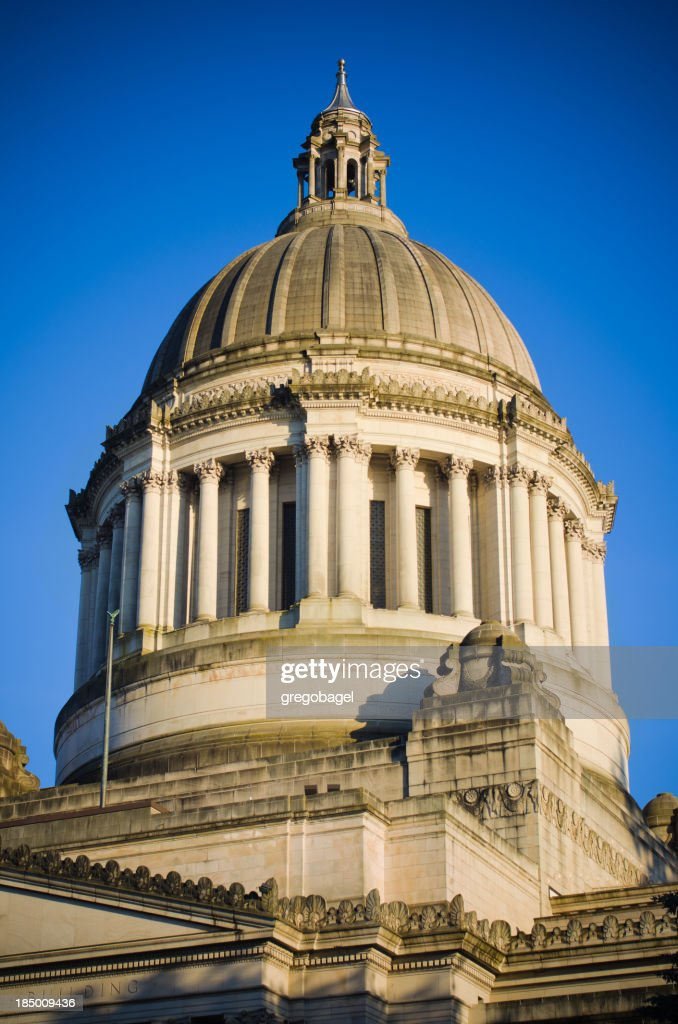 'Dome atop Washington state capitol building in Olympia, WA'
