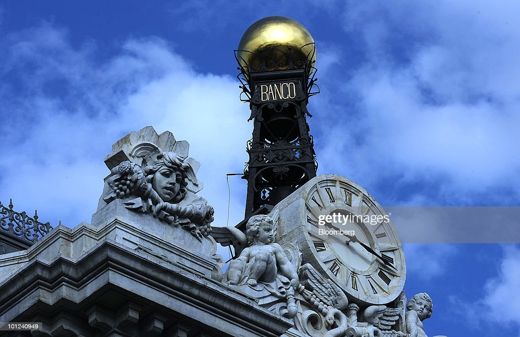 A dome is seen atop the Bank of Spain in Madrid, Spain, on Friday, May 28, 2010. The restructuring of the Spanish savings bank industry can be completed by the end of June, Elena Salgado, Spain's economy minister, said today in Madrid. Photographer: Denis Doyle/Bloomberg via Getty Images
