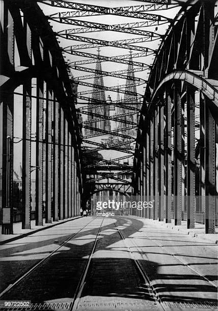 Dome of Cologne view from the Hohenzollern Bridge Photograph Germany Around 1935 Photo by Austrian Archives /Imagno/Getty Images