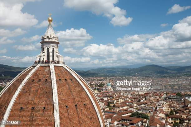 Dome Of Florence Cathedral In City Against Cloudy Sky