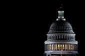 Dôme de l'U.S. Le Capitole de nuit