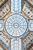 Glass dome of classic building
