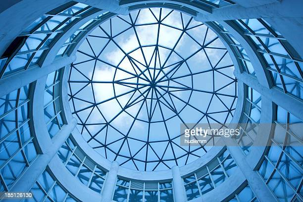 Dome with glass ceiling background