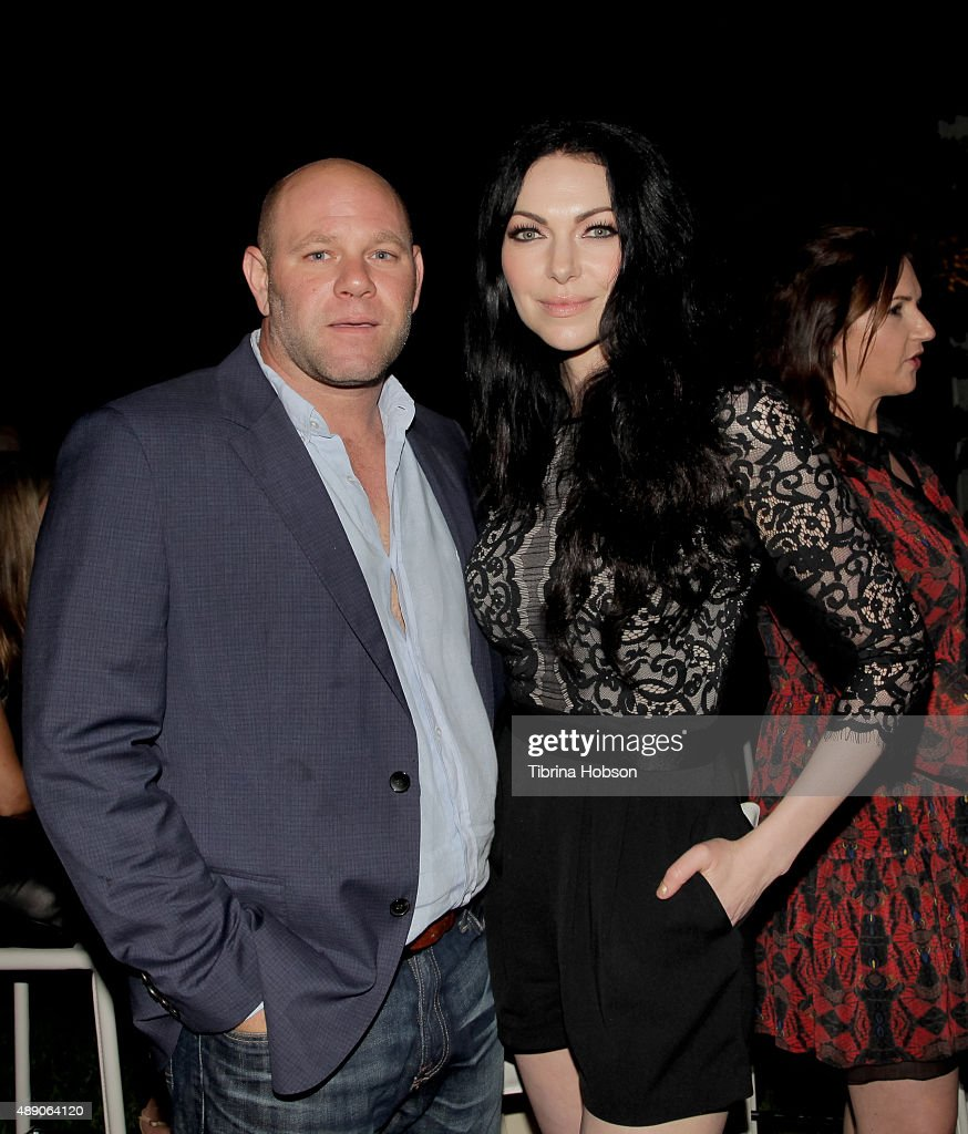 Domenick Lombardozzi and Laura Prepon attends the Gersh Emmy nominees celebration on September 18, 2015 in Beverly Hills, California.