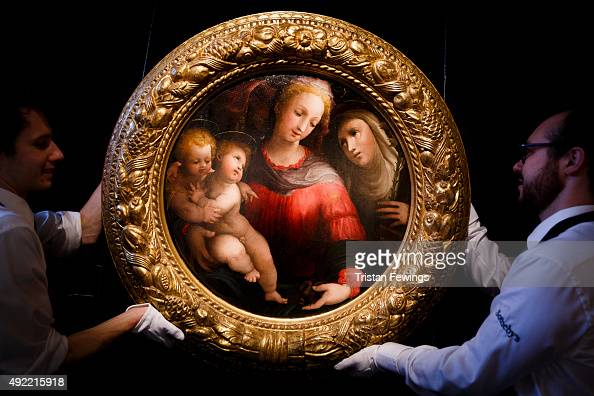 Domenico Beccafumi's Madonna and Child from the collection of A Alfred Taubman is displayed as part of the Frieze week exhibition at Sotheby's on...