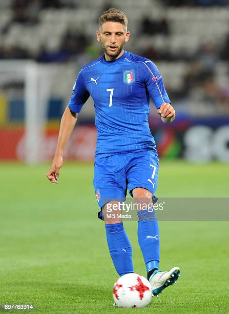 Domenico Berardi during the UEFA European Under21 match between Denmark and Italy at Cracovia stadium on June 18 2017 in Krakow Poland