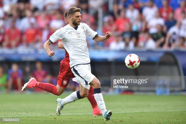 Domenico Berardi during the UEFA European Under21 match between Czech Republic and Italy on June 21 2017 in Tychy Poland