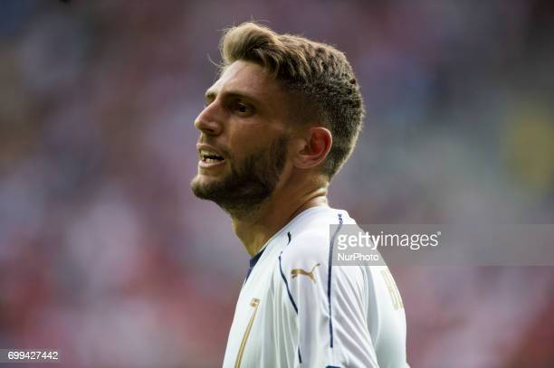 Domenico Berardi of Italy during the UEFA European Under21 Championship 2017 Group C between Czech Republic and Italy at Tychy Stadium in Tychy...