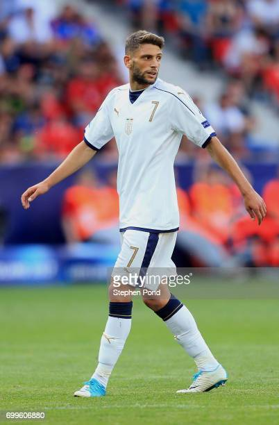 Domenico Berardi of Italy during the UEFA European Under21 Championship Group C match between Czech Republic and Italy at Tychy Stadium on June 21...