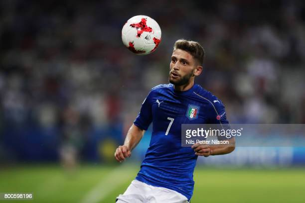 Domenico Berardi of Italy during the UEFA U21 championship match between Italy and Germany at Krakow Stadium on June 24 2017 in Krakow Poland