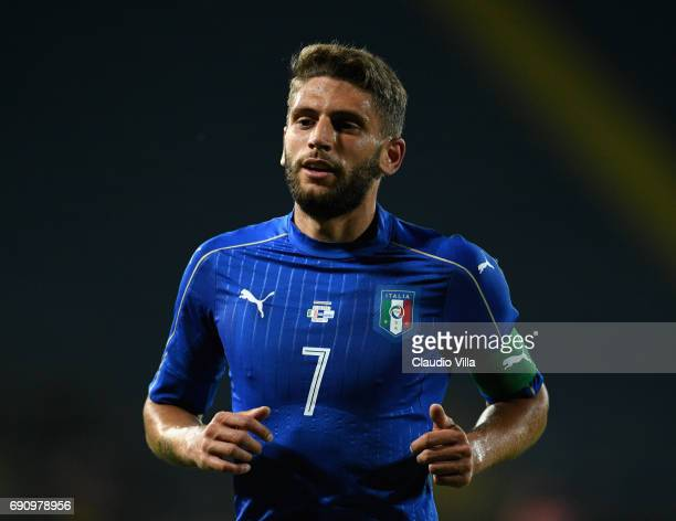 Domenico Berardi of Italy in action during the international friendy match played between Italy and San Marino at Stadio Carlo Castellani on May 31...