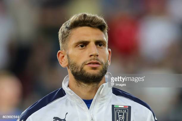 Domenico Berardi of Italy looks on during the UEFA U21 championship match between Italy and Germany at Krakow Stadium on June 24 2017 in Krakow Poland