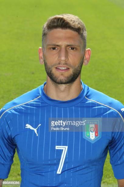 Domenico Berardi of Italy U21 poses during the official team photo at Centro Sportivo Fulvio Bernardini on June 14 2017 in Rome Italy