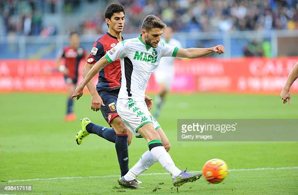 Domenico Berardi of Sassuolo in action during the Serie A match between Genoa CFC and US Sassuolo Calcio at Stadio Luigi Ferraris on November 22 2015...