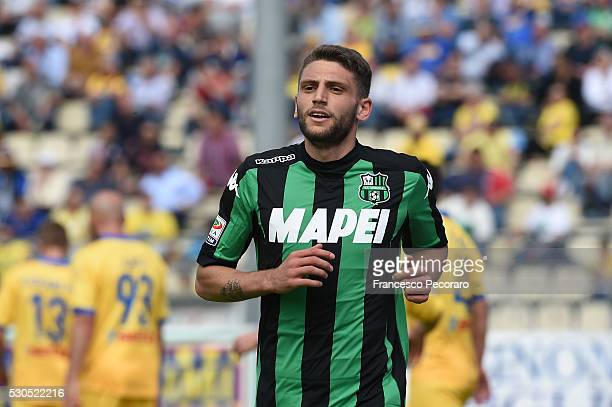 Domenico Berardi of Sassuolo in action during the Serie A match between Frosinone Calcio and US Sassuolo calcio at Stadio Matusa on May 8 2016 in...
