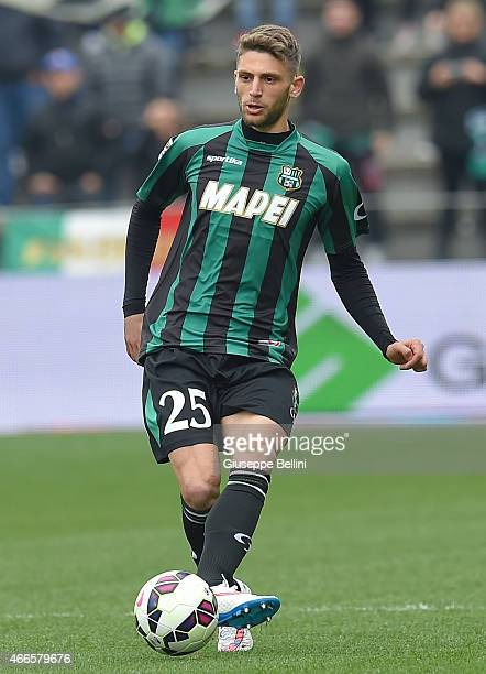 Domenico Berardi of Sassuolo in action during the Serie A match between US Sassuolo Calcio and Parma FC at Mapei Stadium on March 15 2015 in Reggio...