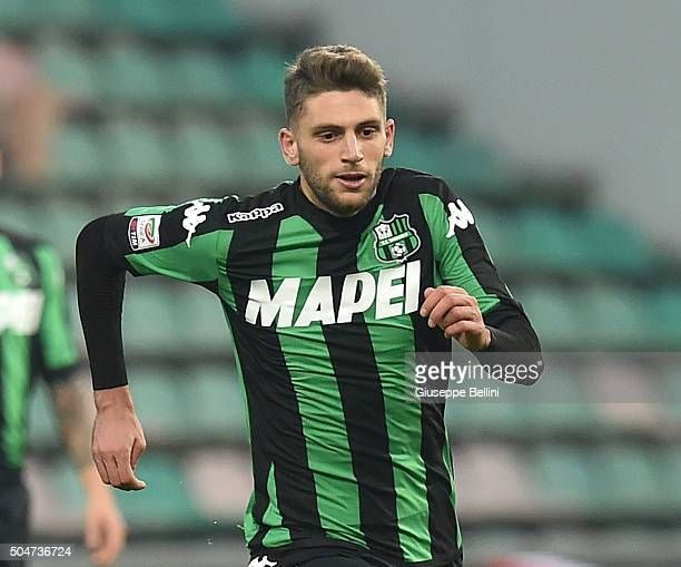 Domenico Berardi of Sassuolo in action during the Serie A match between US Sassuolo Calcio and Frosinone Calcio at Mapei Stadium Città del Tricolore...