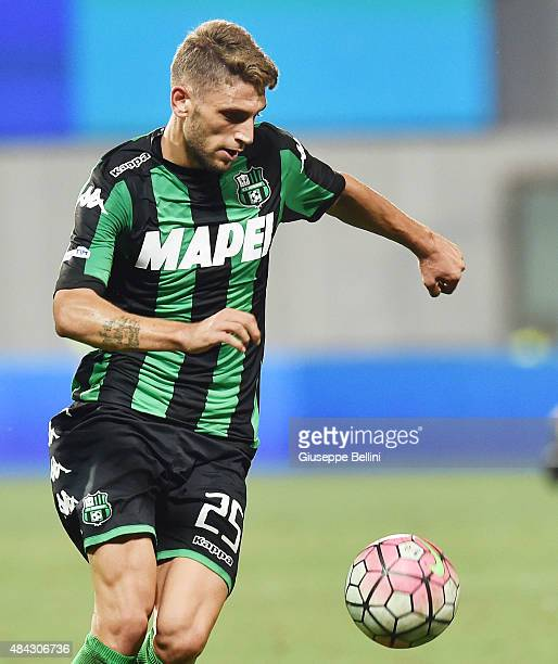 Domenico Berardi of Sassuolo in action during the TIM preseason tournament match between FC Internazionale and US Sassuolo Calcio at Mapei Stadium...