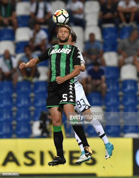 Domenico Berardi of US Sassuolo and Adel Taarabt of Genoa CFC in action during the Serie A match between US Sassuolo and Genoa CFC at Mapei Stadium...