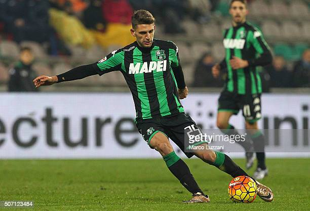 Domenico Berardi of US Sassuolo Calcio in action during the Serie A match betweeen US Sassuolo Calcio and Torino FC at Mapei Stadium Città del...