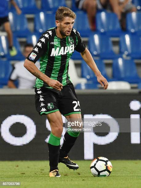 Domenico Berardi of US Sassuolo in action during the Serie A match between US Sassuolo and Genoa CFC at Mapei Stadium Citta' del Tricolore on August...