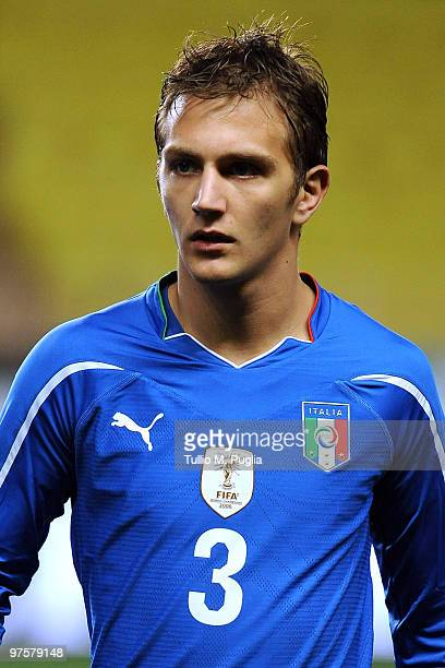 Domenico Criscito of Italy looks on during the International Friendly match between Italy and Cameroon at Louis II Stadium on March 3 2010 in Monaco...